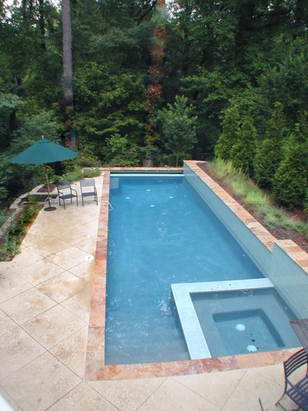 Lap pool on Virginia Highland small lot
